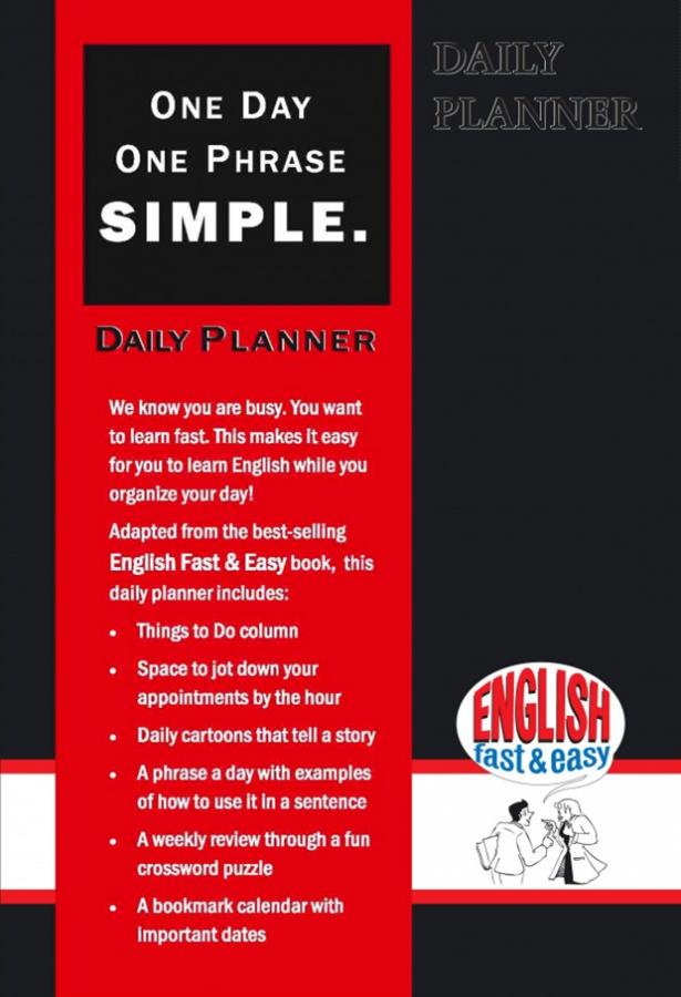 english fast  u0026 easy daily planner